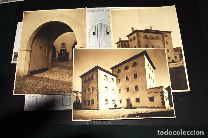 CASTELLDANS (LÉRIDA). CONSTRUCCIÓN CASA CUARTEL GUARDIA CIVIL. LOTE 12 FOTOS ORIGINALES. AÑOS 1940S (Fotografía Antigua - Fotomecánica)