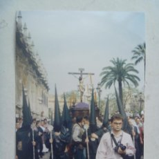 Fotografía antigua: SEMANA SANTA DE SEVILLA : FOTO DE PASO DE CRISTO CRUCIFICADO : LOS ESTUDIANTES. Lote 69418753
