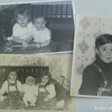 Fotografía antigua: LOTE DE 3 FOTOS DE NIÑOS ... DE 12 X 18 CM. Lote 69492753