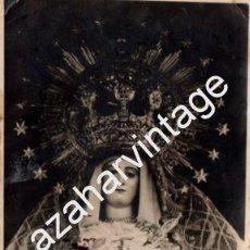 Fotografía antigua: SEMANA SANTA DE HINOJOS, HUELVA, VIRGEN DE LA ESPERANZA, 84X118MM. Lote 70024033