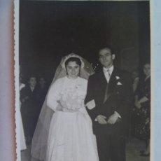 Fotografía antigua: FOTO DE BODA, 1955 . DE BARAS , UBEDA ( JAEN ). Lote 71431243