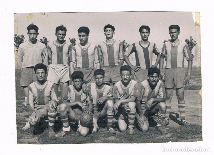 FUTBOL HISPANIA C.F. 1957 - FOTOS LUCAS GIMENEZ ALCIRA (Fotografía Antigua - Fotomecánica)