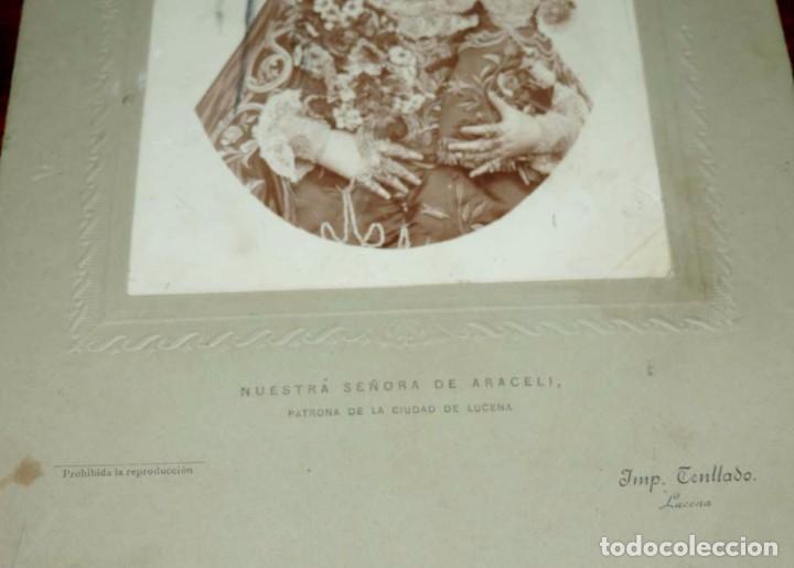 Fotografía antigua: FOTOGRAFIA DE LUCENA (CORDOBA) NUESTRA SEÑORA DE ARACELI, PATRONA DE LA CIUDAD DE LUCENA, IMP. TENLL - Foto 3 - 72844095