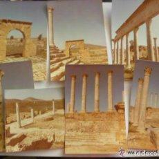 Fotografía antigua: LOTE 16 FOTOS DE RUINAS PUNICAS EN DOUGGA, BULLA REGIA Y TURBO MAGOS ( TUNEZ ), 1984. Lote 244689820