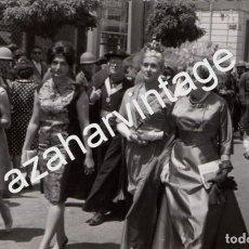 Fotografía antigua: ATENAS, 1962, INVITADOS A LA BODA DE DON JUAN CARLOS Y DOÑA SOFIA, RARISIMA,140X86MM. Lote 74571291