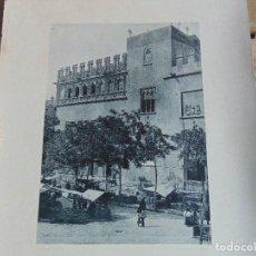 Fotografía antigua: LAMINA FOTOGRAFICA DE HAUSER Y MENET AÑO 1891 VALENCIA DETALLE DE LA LONJA. Lote 74641979