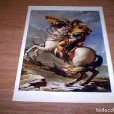 Fotografía antigua: FOTOGRAFIA DE NAPOLEON CRUZANDO LOS ALPES IMPRESA EN ITALIA POR P.MARZARI.29 X 22 CM.. Lote 79793123