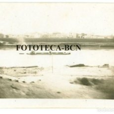 Fotografía antigua: FOTO ORIGINAL BARCAZA RIO GUADALQUIVIR BAHIA DE CADIZ AÑOS 40/50 - 6X4 CM. Lote 74695647