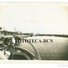 Fotografía antigua: FOTO ORIGINAL RIO GUADALETE BARCO BAHIA DE CADIZ AÑOS 40/50 - 6X4 CM. Lote 74695755