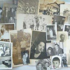 Fotografía antigua: LOTE DE 100 FOTOS FAMILIARES , LAS MAYORES SON DE 12 X 18 CM. Lote 74744523