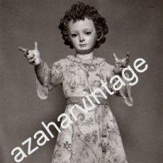 Fotografía antigua: SEMANA SANTA SEVILLA, ANTIGUA FOTOGRAFIA DEL NIÑO JESUS DEL SAGRARIO,FOT.PALAU, 108X148MM. Lote 75030663