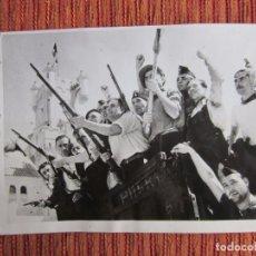 Fotografía antigua: 1937-VOLUNTARIOS CASTILLO BARCELONA.FRANCO.GUERRA CIVIL ESPAÑA.FOTO ORIGINAL. Lote 75132707