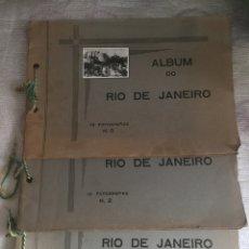 Fotografía antigua: RIO DE JANEIRO. 30 FOTOGRAFIAS ANTIGUAS. 3 SON PANORÁMICAS. TRES ALBUMS.. Lote 75297542