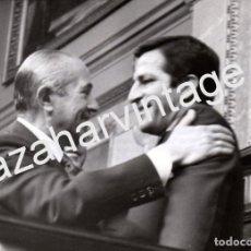 Fotografía antigua: MADRID, 1976, CARLOS ARIAS NAVARRO Y ADOLFO SUAREZ, 178X128MM. Lote 75693979