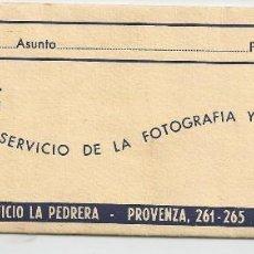 Fotografía antigua: CARPETA PARA NEGATIVOS FOTOGRAFICOS - GRAU (BARCELONA). Lote 76131963
