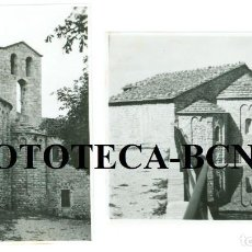 Fotografía antigua: 2 FOTOS ORIGINALES MONASTERIO SANTA CECILIA MONTAÑA DE MONTSERRAT AÑOS 50/60. Lote 76499107