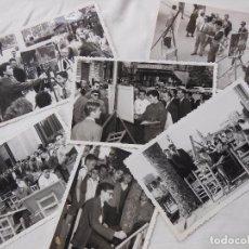 Fotografía antigua: 6 FOTOGRAFIAS. CONCURSO PINTURA VALENCIA 1959. BONOCASA. Lote 76663739