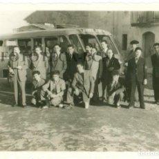 Fotografía antigua: FOTO ORIGINAL MICROBUS AUTOCAR AUTOBUS SERVICIO DISCRECIONAL AÑOS 50. Lote 76886131
