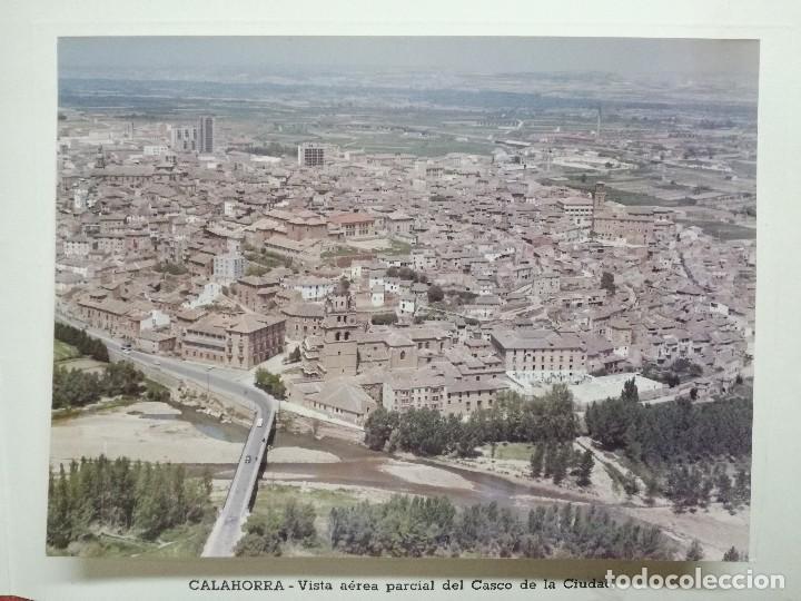 FOTO AEREA CALAHORRA.LA RIOJA.AÑOS 60. FELICITACION ALCALDE. (Fotografía Antigua - Fotomecánica)