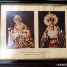 Fotografía antigua: SEMANA SANTA SEVILLA, MAGNIFICO CUADRO CON FOTOGRAFIAS DE LOS TITULARES DE LOS SERVITAS,54X42 CMS. Lote 77486021