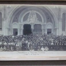 Fotografía antigua: FOTOGRAFIA PEREGRINACION DEL MAGISTERIO VALENTINO A LOURDES AGOSTO DEL AÑO 1908. Lote 78151097