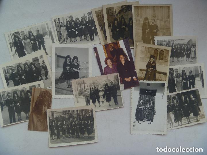 Old photograph: LOTE DE 100 FOTOS DE SEÑORAS Y SEÑORITAS CON MANTILLA Y PEINETA - Foto 3 - 78436541