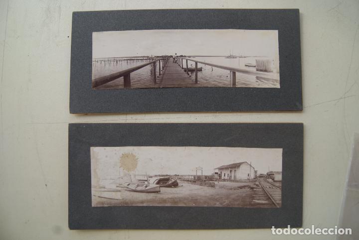 LOTE DE 2 FOTOS DE EPOCA 22 X 10CM PRECIOSAS (Fotografía Antigua - Fotomecánica)