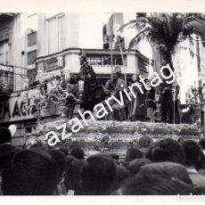 Fotografía antigua: SEMANA SANTA SEVILLA, ANTIGUA FOTOGRAFIA PASO DE LA BORRIQUITA,105X75MM. Lote 81064116