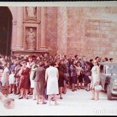 Fotografía antigua: FOTOGRAFIA DAROCA. PORTADA COLEGIATA DE DAROCA. AÑO 1965. Lote 81696856