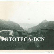 Fotografía antigua: FOTO ORIGINAL CARRETERA COLL D SOLLER PALMA MALLORCA PUBLICIDAD BRANDY VETERANO TORO OSBORNE AÑOS 60. Lote 81744940