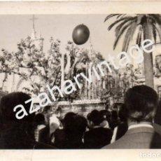 Fotografía antigua: SEMANA SANTA SEVILLA, ANTIGUA FOTOGRAFIA SOLEDAD DE SAN LORENZO, 105X75MM. Lote 81751768