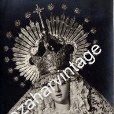 Fotografía antigua: SEMANA SANTA DE SEVILLA, LA VIRGEN DEL SOCORRO,FOTO.FERNAND,90X140MM. Lote 81834352