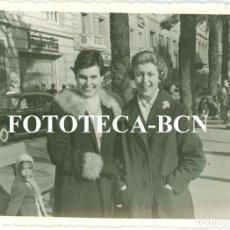 Fotografía antigua: FOTO ORIGINAL BARCELONA AVENIDA DIAGONAL CONCESION MOTO LAMBRETTA COCHE SEAT BISCUTER AÑO 1958. Lote 82077632