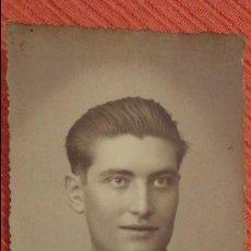 Fotografía antigua: ANTIGUA FOTOGRAFIA DE JOVEN.JULIAN MATAMOROS.FOTO GARRORENA.BADAJOZ.AÑOS 40. Lote 82883716