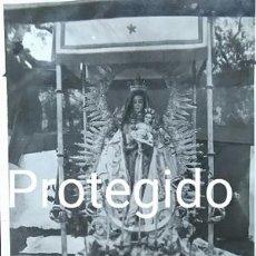 Fotografía antigua: ANTIGUA FOTOGRAFIA DE NUESTRA SEÑORA DE TORTOLA PATRONA DE HINOJALES HUELVA. Lote 82975852