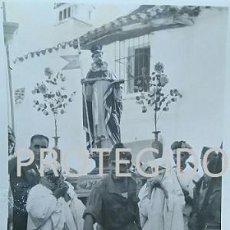 Fotografía antigua: ANTIGUA FOTOGRAFIA DE LAS FIESTAS DE MOROS Y CRISTIANOS DE BENALAURIA MALAGA 1949. Lote 83679764