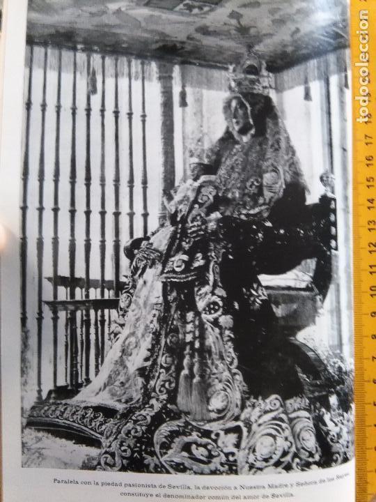 LAMINA FOTOGRAFICA A 2 CARAS SEMANA SANTA SEVILLA AÑO 60 VIRGEN DE LOS REYES Y CRISTO DEL GRAN PODER (Fotografía Antigua - Fotomecánica)