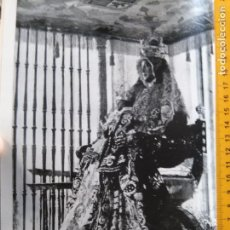 Fotografía antigua: LAMINA FOTOGRAFICA A 2 CARAS SEMANA SANTA SEVILLA AÑO 60 VIRGEN DE LOS REYES Y CRISTO DEL GRAN PODER. Lote 83892780