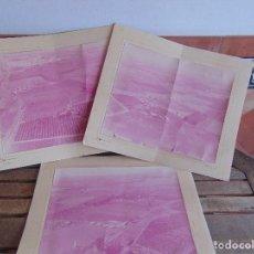 Fotografía antigua: 3 FOTO FOTOGRAFIAS EN GRAN FORMATO PAISAJES AEREOS ESPAÑOLES PONE CHIPIONA AÑOS 60 O 70. Lote 84793832