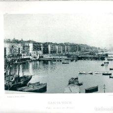 Fotografía antigua: SANTANDER. VISTA GENERAL DEL MUELLE. AÑO 1896. FOTOTIPIA DE HAUSER Y MENET. NUM: 165. Lote 84803344
