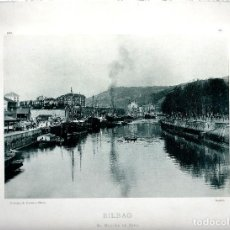 Fotografía antigua: BILBAO, EL MUELLE DE RIPA. AÑO: 1896. FOTOTIPIA DE HAUSER Y MENET. NUM: 372. Lote 84831108