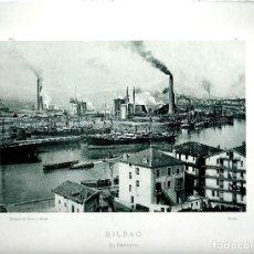 Fotografía antigua: BILBAO. EL DESIERTO. AÑO 1895. FOTOTIPIA DE HAUSER Y MENET. Nº381. Lote 85390160