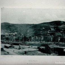 Fotografía antigua: BILBAO. EL CAMPO VOLANTÍN. AÑO 1896. FOTOTIPIA DE HAUSER Y MENET. Nº371. Lote 85391092