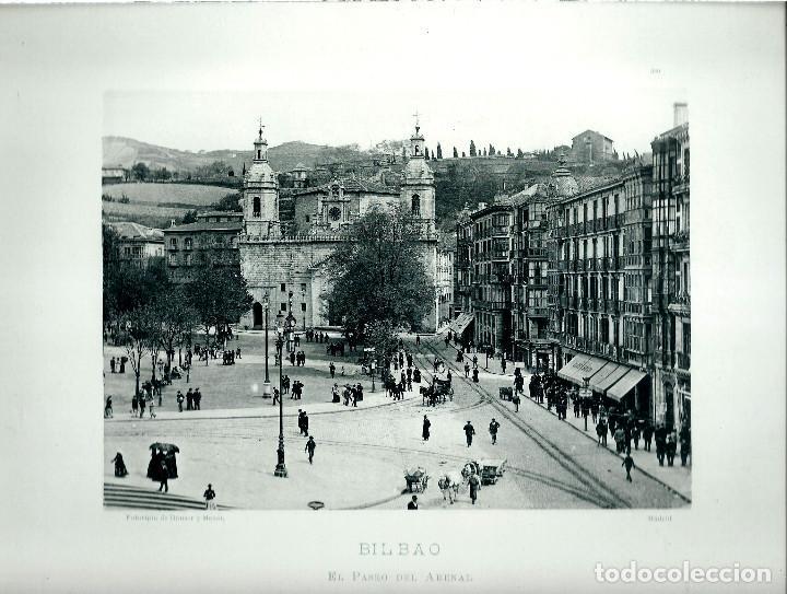 BILBAO. PASEO DEL ARENAL.AÑO 1896?. FOTOTIPIA DE HAUSER Y MENET. Nº389 (Fotografía Antigua - Fotomecánica)