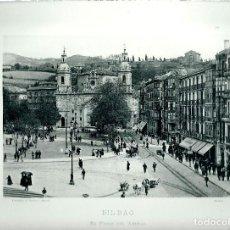 Fotografía antigua: BILBAO. PASEO DEL ARENAL.AÑO 1896?. FOTOTIPIA DE HAUSER Y MENET. Nº389. Lote 85392008