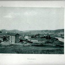Fotografía antigua: BILBAO. ZORROZA.AÑO 1895. FOTOTIPIA DE HAUSER Y MENET. Nº380. Lote 85393524
