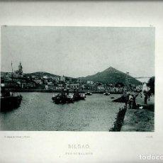Fotografía antigua: BILBAO. PORTUGALETE.AÑO 1896. FOTOTIPIA DE HAUSER Y MENET. Nº190. Lote 85395432
