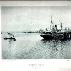 Fotografía antigua: SANTANDER. EL PUERTO. AÑO 1896. FOTOTIPIA DE HAUSER Y MENET. Nº168.. Lote 85411064
