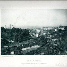Fotografía antigua: SANTANDER. VISTA DESDE EL PASEO DE LA CONCEPCIÓN. AÑO 1896. FOTOTIPIA DE HAUSER Y MENET. Nº163.. Lote 85412060