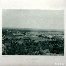 Fotografía antigua: ARANJUEZ. VISTA GENERAL. AÑO 1893. HAUSER Y MENET. Nº132. Lote 86090032
